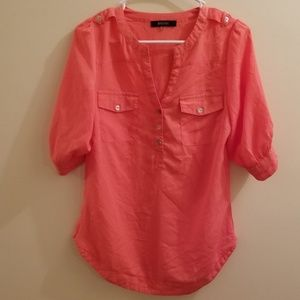 41 Hawthorne Button Down Shirt Size XS Orange